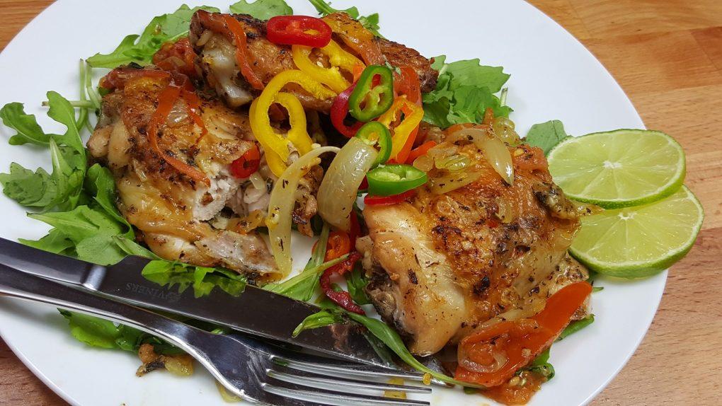 served chicken